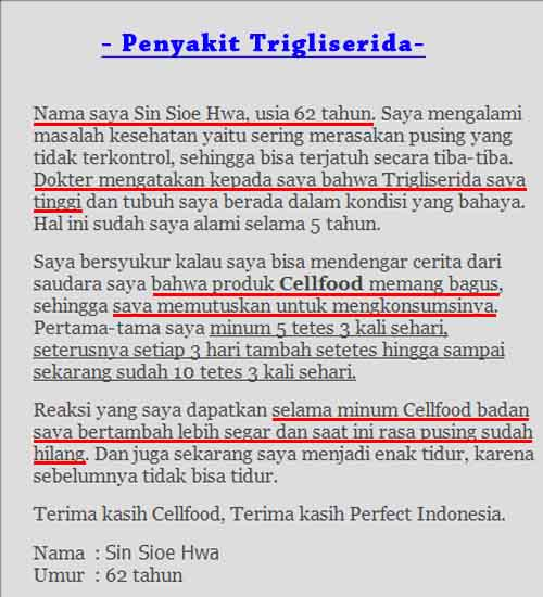 Agen Cellfood Usa Asli