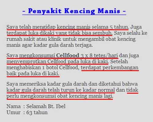 Testimoni Cellfood Untuk Stroke